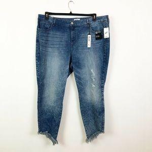 William Rast 24W Skinny Leg Stonewashed Jeans 2R31